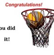 Slam Dunk Congratulations Greeting Card Poster