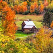Sleepy Hollow Farm In Fall Poster