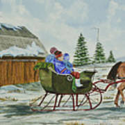 Sleigh Ride Poster by Charlotte Blanchard