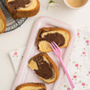 Slice Of Marble Cake Poster