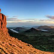 Slieve Bearnagh Rusty Golden Sunset Poster
