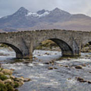 Sligachen Bridge And The Black Cullin, Isle Of Skye Poster