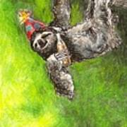 Sloth Birthday Party Poster by Steve Asbell