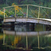 Small Bridge In Double Flowered Poster