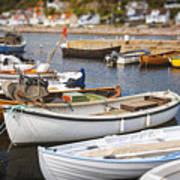 Small Fishing Boats Poster