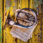 Small French Horn Poster