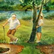 Small Golf Hazard Poster