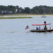 Small Stream Boat Poster