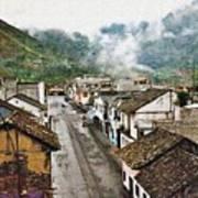 Small Town Ecuador Poster