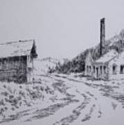 Smelter Ruins Glendale Ghost Town Montana Poster