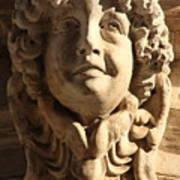 Smiling Head Above Door In Venice Poster