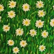 Smiling Margaret's Flowers Poster