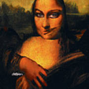 Smirking Mona Poster