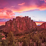 Smith Rock Sunset Poster