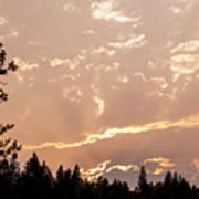 Smokey Skies Sunset Poster