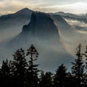 Smoky Dawn At Yosemite Poster