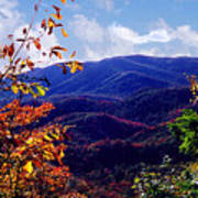 Smoky Mountain Autumn View Poster