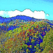 Smoky Mountains Scenery 6 With Sunny Day Filter Poster