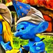 Smurfette And Friends - Da Poster