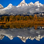 Snake River Fall Reflections Poster