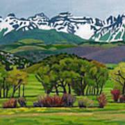 Sneffels Range Spring Acrylic Poster