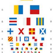 Snellen Chart - Nautical Flags Poster