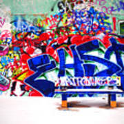 Snow And Graffiti Poster