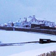 Snow At Cobo Beach Poster