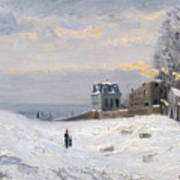 Snow At Montmartre Poster