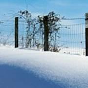 Snow Fence Poster by Joyce Kimble Smith