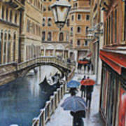 Snow Flurry In Venice Poster