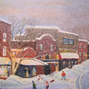 Snow For The Holidays Painting Poster