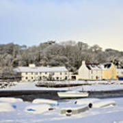 Snow In Red Wharf Bay Wales Poster