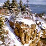 Snow In The Park Acadia Maine Poster