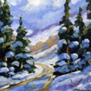 Snow Laden Pines Poster