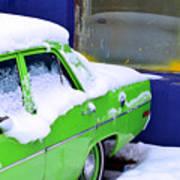 Snow On Car Poster
