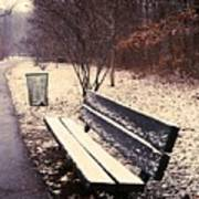 Snow Park Bench Poster