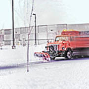 Snow Plow In Business Park 1 Poster