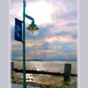 Snow Waterfront Park Walk Poster