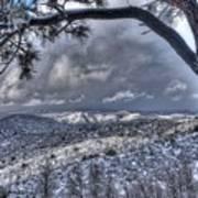 Snowfall Covers Northern Arizona For Christmas Poster