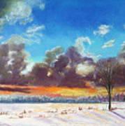 Snowfield IIi Poster by Lucinda  Hansen
