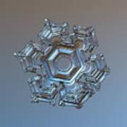Snowflake Photo - Cold Metal Poster by Alexey Kljatov