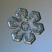 Snowflake Photo - Massive Silver Poster