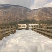 Snowy Alpine Lake Poster