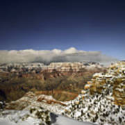 Snowy Grand Canyon Poster