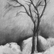 Snowy Moonlight Poster
