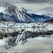 Snowy Reflections In Medicine Lake Poster