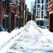 Snowy Street Poster