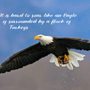 Soar Like An Eagle  If You Can Poster