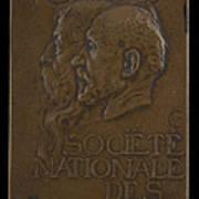 Soci?t? Nationale Des Beaux-arts: Jean-louis Ernest Meissonier And Pierre Puvis De Chavannes [obverse] Poster